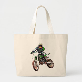 Rather Be Playing In The Dirt (Color) Jumbo Tote Bag