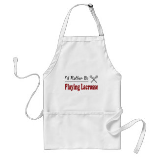 Rather Be Playing Lacrosse Apron