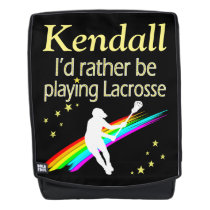 RATHER BE PLAYING LACROSSE PERSONALIZED BACKPACK
