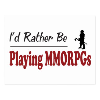 Rather Be Playing MMORPGs Postcard
