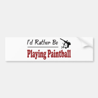 Rather Be Playing Paintball Bumper Stickers
