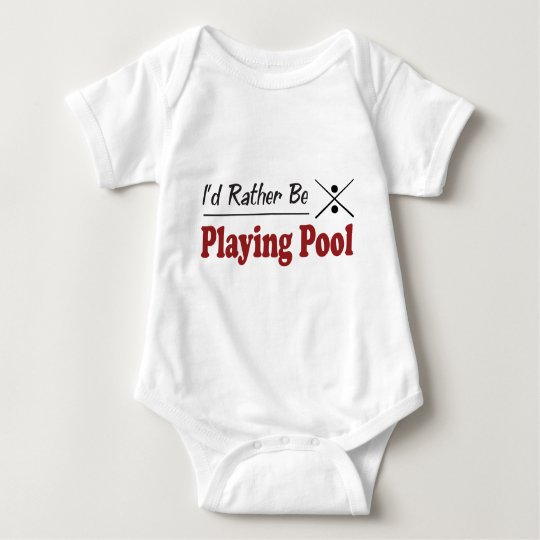 Rather Be Playing Pool Baby Bodysuit