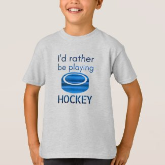 Rather be playing - Speed blue hockey player T-Shirt