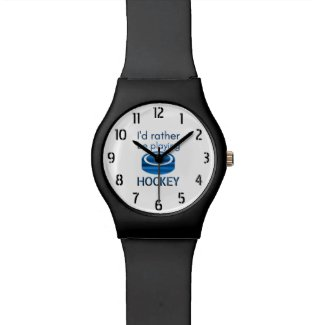 Rather be playing - Speed blue hockey player Watch