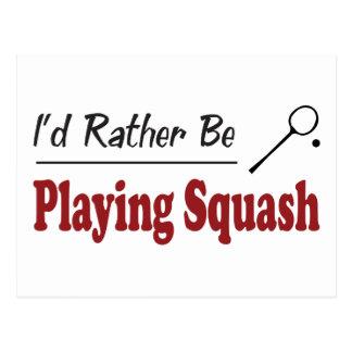 Rather Be Playing Squash Postcard