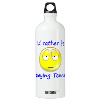 Rather be Playing Tennis Water Bottle