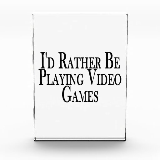 Rather Be Playing Video Games Award