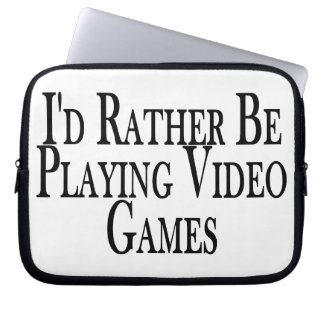 Rather Be Playing Video Games Laptop Sleeve