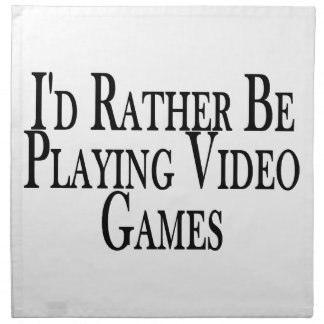 Rather Be Playing Video Games Napkin