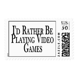 Rather Be Playing Video Games Postage