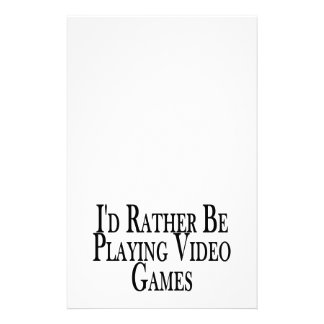 Rather Be Playing Video Games Stationery