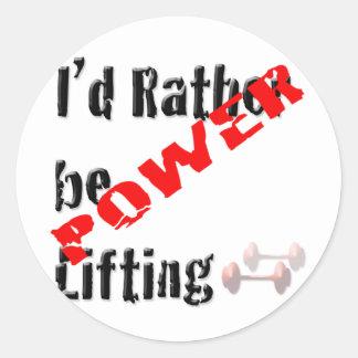 Rather be Powerliftingt Classic Round Sticker