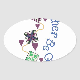 Rather Be Quilting Oval Sticker