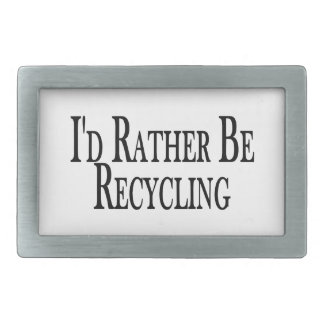 Rather Be Recycling Belt Buckle