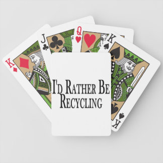 Rather Be Recycling Bicycle Playing Cards