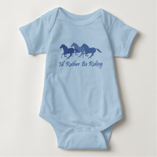 Rather Be Riding - Horse Saying Baby Bodysuit