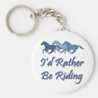 Rather Be Riding - Horse Saying Keychain