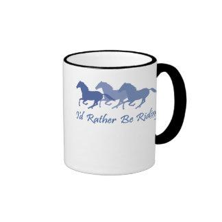 Rather Be Riding - Horse Saying Ringer Mug