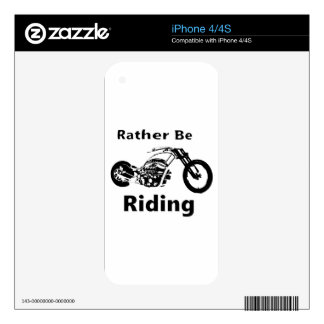 Rather Be Riding iPhone 4S Skin