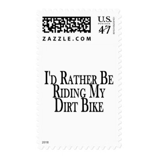 Rather Be Riding My Dirt Bike Postage Stamp