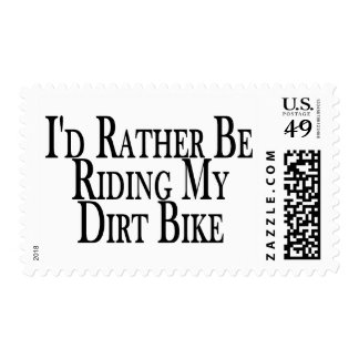 Rather Be Riding My Dirt Bike Stamp