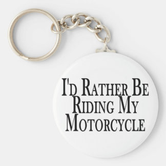 Rather Be Riding My Motorcycle Basic Round Button Keychain