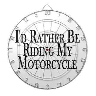 Rather Be Riding My Motorcycle Dart Board