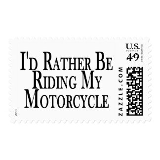Rather Be Riding My Motorcycle Postage