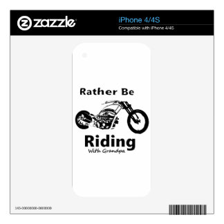 Rather Be Riding w grandpa Decal For iPhone 4S