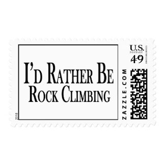 Rather Be Rock Climbing Postage Stamp
