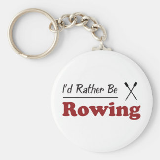 Rather Be Rowing Basic Round Button Keychain