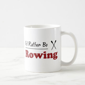 Rather Be Rowing Classic White Coffee Mug