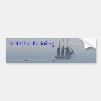 Rather Be Sailing Bumper Sticker Car Bumper Sticker