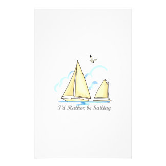 RATHER BE SAILING CUSTOMIZED STATIONERY