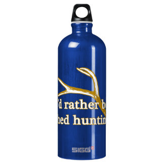 Rather be shed hunting aluminum water bottle