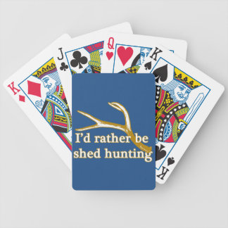 Rather be shed hunting bicycle playing cards
