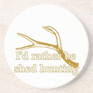 Rather be shed hunting sandstone coaster