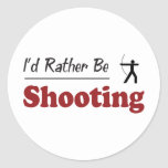 Rather Be Shooting Classic Round Sticker