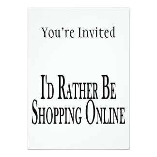 Rather Be Shopping Online Card