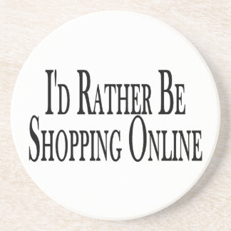 Rather Be Shopping Online Coasters