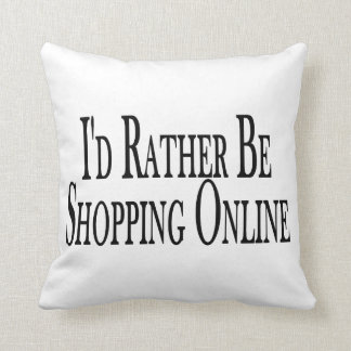 Rather Be Shopping Online Throw Pillow