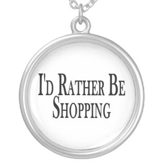 Rather Be Shopping Silver Plated Necklace