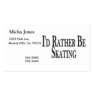 Rather Be Skating Business Card
