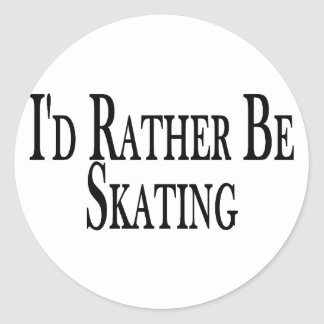 Rather Be Skating Classic Round Sticker