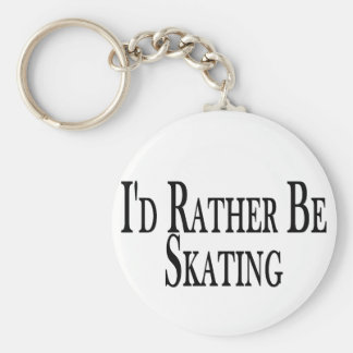 Rather Be Skating Basic Round Button Keychain