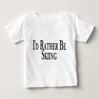 Rather Be Skiing Baby T-Shirt