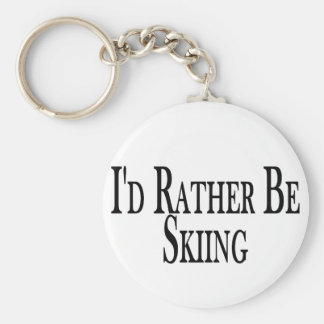 Rather Be Skiing Basic Round Button Keychain