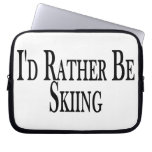 Rather Be Skiing Laptop Sleeve