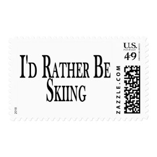 Rather Be Skiing Stamp