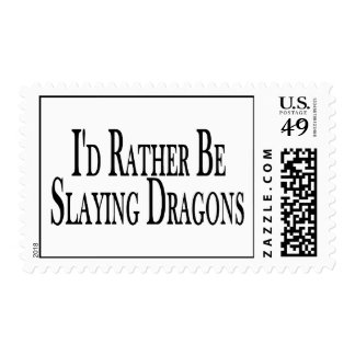 Rather Be Slaying Dragons Stamp
